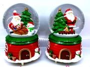 ПРЕСПАПИЕ ТОПКА СЪС СНЯГ светещо Н11смФ7,5см поставка къщичка, в подаръчна кутия
