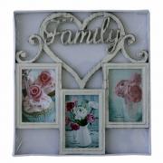 ФОТОРАМКА Family БЕЖОВА 36х38см 3снимки  10х15см ПВЦ