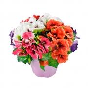 БУКЕТЧЕ 5цветчета ТЕМЕНУЖКА със зеленина 22см