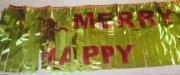 НАДПИС HAPPY CHRISTMAS 16см 1,6м