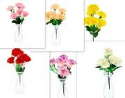 БУКЕТЧЕ 6цветчета КАРАМФИЛ с бяла клонка 30см