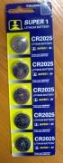 БАТЕРИЯ   CR2025 5 броя в картон