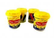 ПЛАСТИЛИН  6цвята х 20гр с една формичка, РР кутия кофичка Play-Dough